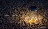 Luz de cristal solar de la botella del tarro del LED para el vector y colgar