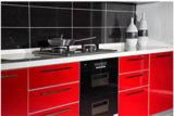 Heißer Verkauf UVmdf-hoher glatter Küche-Schrank (ZX-030)