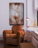 Peinture nue impressionniste de sécrétions cutanées de femme de qualité d'art moderne fabriqué à la main en gros de toile
