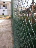 يغلفن حديد سلك [متريل-بفك] يكسى [شين لينك] سياج نوع [سبورت فيلد] سياج