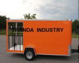 Nieuwe 6 X de 14 Ingesloten BBQ van de Verkoop van het Voedsel van de Concessie Aanhangwagen van de Portiek