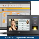 système biométrique de contrôle d'accès d'horloge de service de temps d'empreinte digitale de l'IDENTIFICATION RF 3G androïde avec '' écran tactile 7