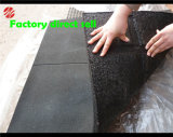 SBR 1m x 1m schwarze Fußboden-Fliesen für Gymnastik-Sport