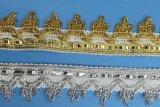 高品質のスパンコールの装飾のための光沢があるレースのふさのフリンジ