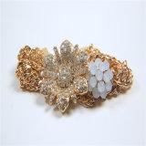 Jeu acrylique de bijou de mode de collier de bracelet de boucle d'oreille de fleur de pierres de poste neuf