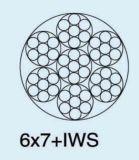 Corda de fio de aço galvanizada 6X7+Iws