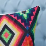 Ammortizzatore/cuscino decorativi della stampa di Digitahi con il reticolo geometrico di Ikat (MX-04)