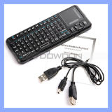 MiniKeyboard Mouse mit Laser Pointer Keyboard, Mini Wireless Keyboard Touchapd (keyboard-001)