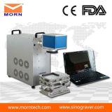 Машина маркировки лазера стекловолокна Morn 20W для металла/Plastic/SUS/Jewelry