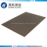 feuille en plastique de polycarbonate en bronze givrée par 4mm pour la toiture