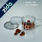 Tarro plástico claro 280ml, tarro plástico transparente, tarro plástico del caramelo del animal doméstico con el tapón de tuerca