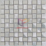 Mosaïque en aluminium de couleur d'argent en céramique beige de mélange (CFA77)