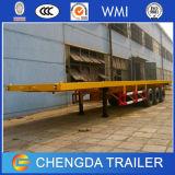 Tri eixo 40 de recipiente de transporte pés de reboque da base lisa para a venda