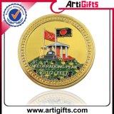 Золотая монетка сувенира конструкции Rertro