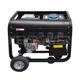 6kVA раскрывают тип портативный Air-Cooled тепловозный генератор с колесами
