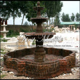 Fonte de pedra de mármore Mf-1029 de Giallo Marrone da fonte do granito