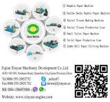 Mini cadena de producción automática de alta velocidad del papel de tejido de la servilleta