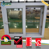 家のためのUPVCによって二重ガラスをはめられる健全な証拠のスライディングウインドウ
