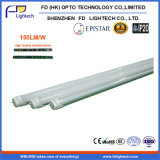 150lm/W 1.2m 4FT 18W LED Tube Light con 3 Years Warranty