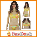 Bathing amarillo Suit Top y Bottoms Swimwear Sexy Bikini (KS610801)