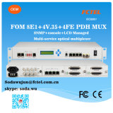 モジュラーFom 8e1+4V。 Snmp Managementとの35+4eth Optical PDH Mulitplexer