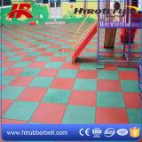 Рециркулированные резиновый плитки безопасности спортивной площадки, плитки плоских близповерхностных спортов квадратные резиновый