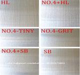 Finisseur de tôle en acier inoxydable Hl Finish et No. 4 Surface pour revêtements intérieurs et meubles de cuisine