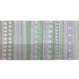 Lacet 100% de garniture de polyester de vêtement de broderie de polyester de coton (1760)