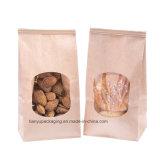Sacchetti del forno, sacco di carta del Brown, sacchetti della serratura della tabulazione del legame dello stagno