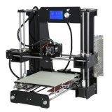 격렬한 구조 격판덮개를 가진 소형 3D 인쇄 기계를 선정하고, 마이크로 SD 카드를 포함하고 PLA 필라멘트를 간색한다
