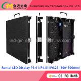 P4.81 interior Pantalla LED para alquiler, pH4.81 LED signo 500 * 1000mm, Alquiler de pantalla LED