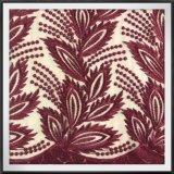Laço elegante do bordado de Tulle do laço do bordado do engranzamento
