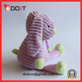 Coelho roxo brinquedo enchido do animal de estimação do brinquedo do cão