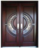 """Porte d'entrée extérieure de front interne d'acajou, 72 """" X 96 """" X 2.5 """""""