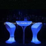 Table basse en plastique ronde - Tableau de cocktail - Tableau moderne d'accent de DEL