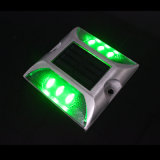 Vite prigioniera solare della strada dell'indicatore LED della strada della pavimentazione dell'indicatore luminoso verde