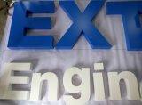 O negócio de anúncio Não-Iluminou o sinal pintado da letra do aço inoxidável
