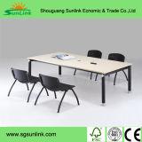 Muebles plásticos de madera de acero del restaurante de la alta calidad estándar barato 4 Seater de ANSI/BIFMA