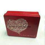 Прямоугольная коробка олова подарка для коробки украшения благосклонности венчания