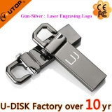Movimentação feita sob encomenda do flash do USB do gancho do metal do logotipo (YT-3258-2.0L)