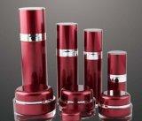 Botella privada de aire de la loción del tarro poner crema de acrílico rojo de Set6 PP para el empaquetado del cosmético (PPC-CPS-045)