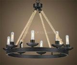 Metallo della decorazione della casa o dell'hotel di Phine & lampada Pendant della corda