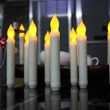 Plastica LED Light Tall Church Candles con Battery
