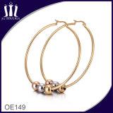 新しい方法ロープの形の金のたがのイヤリング