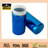 La plata del cromo de Rtco se divierte la botella plástica del conjunto