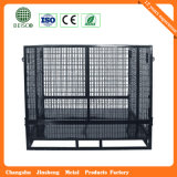 Steel por atacado Warehouse Mesh Container com Wheels