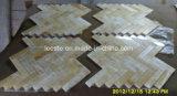 Qualitäts-gelbes Herringbone Mosaik-Honigonyx-Marmor-Badezimmer