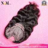 Рукой половинной машины плотности 130% сделанной & половинной связанные парики человеческих волос части Glueless u