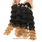 "22 "" 인간적인 Virgin Hair Extension Ombre 3tone Wave Hair"