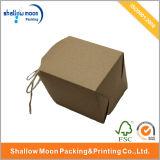 Коробка Brown бумажная с белым печатание слова (QY160389)